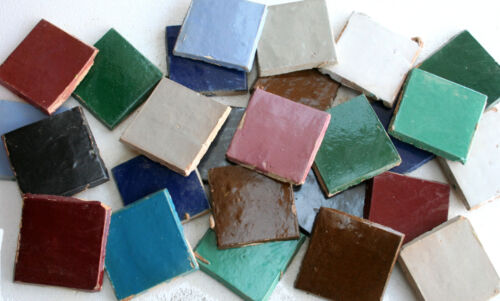 20 Stück marokkanische Zellige Mosaikfliesen Kachel bunt Mosaike selber machen