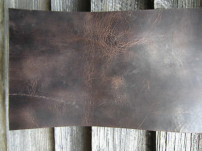 ANTIQUE LOOK DARK BROWN FULL GRAIN LEATHER PIECES VARIOUS SIZE for leather craft