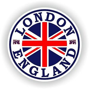 London England Seal Sticker Round Flag Union Jack Bumper Car Helmet Skateboard