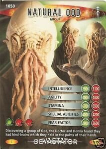 DR WHO DEVASTATOR CARD 831 NATURAL OOD