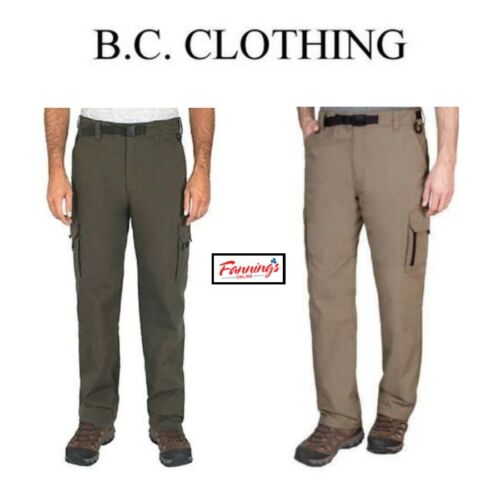 Wholesale SALE! BC Clothing Men's Cotton Lined Adjustable Belted Cargo Pants VARIETY! for sale