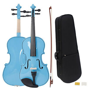 """New Student Blue Adult Acoustic Viola with Case Rosin Bow 16"""""""