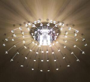 Details zu LED Deckenlampe Kristall Deckenleuchte Kronleuchter Wohnzimmer  Leuchte 60cm XL