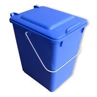Neue Futtertonne Plastikeimer Tierfutter Box Behälter Mit Deckel 10 Liter Blau.