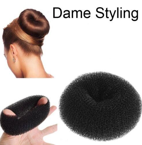 Duttkissen Volumen Haargummi schwarz 8cm Knotenkissen