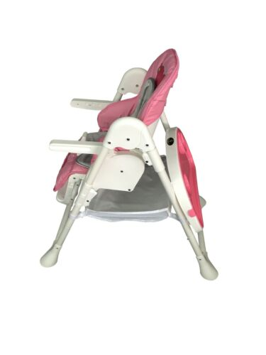 Baby Foldable High Chair Recline Feeding Highchair Height Adjustable Seat Table