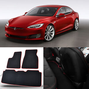 3pcs auto carpet mats carpet perfect fitted for tesla model s 60 car floor mats ebay. Black Bedroom Furniture Sets. Home Design Ideas