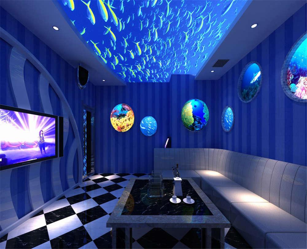 Swarm Undersea Fish 3D Full Wall Mural Photo Wallpaper Printing Home Kids Decor