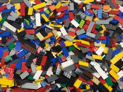 50 Assorted Lego Plates Lot flats bulk 2x2 2x3 2x4 2x6 pieces 2x-wide only