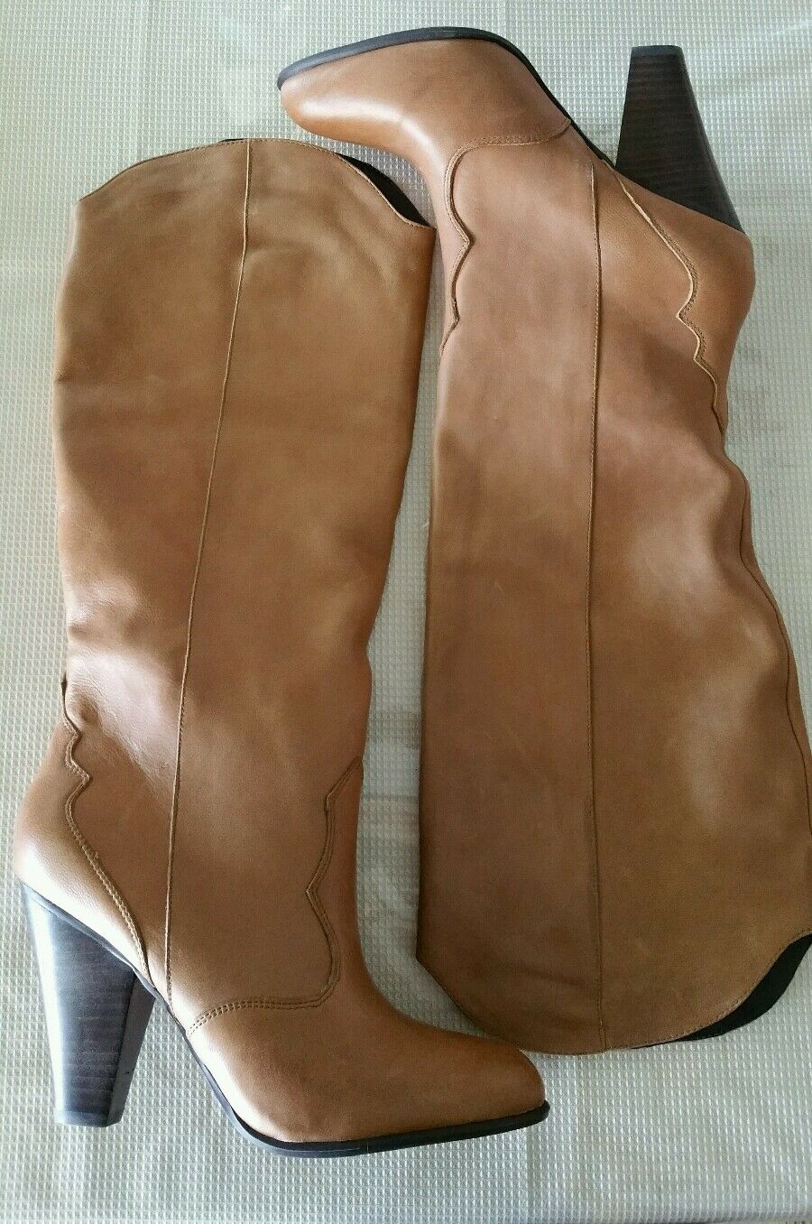 Dolce Vita NEW 10 M Brown Cognac Wester Style Slip on comfort Leather Boots