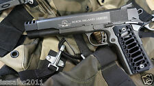 "1911 .45acp BLACK PUNISHER Muzzle Brake & ""Cobra Skeleton"" Grips COMBO"