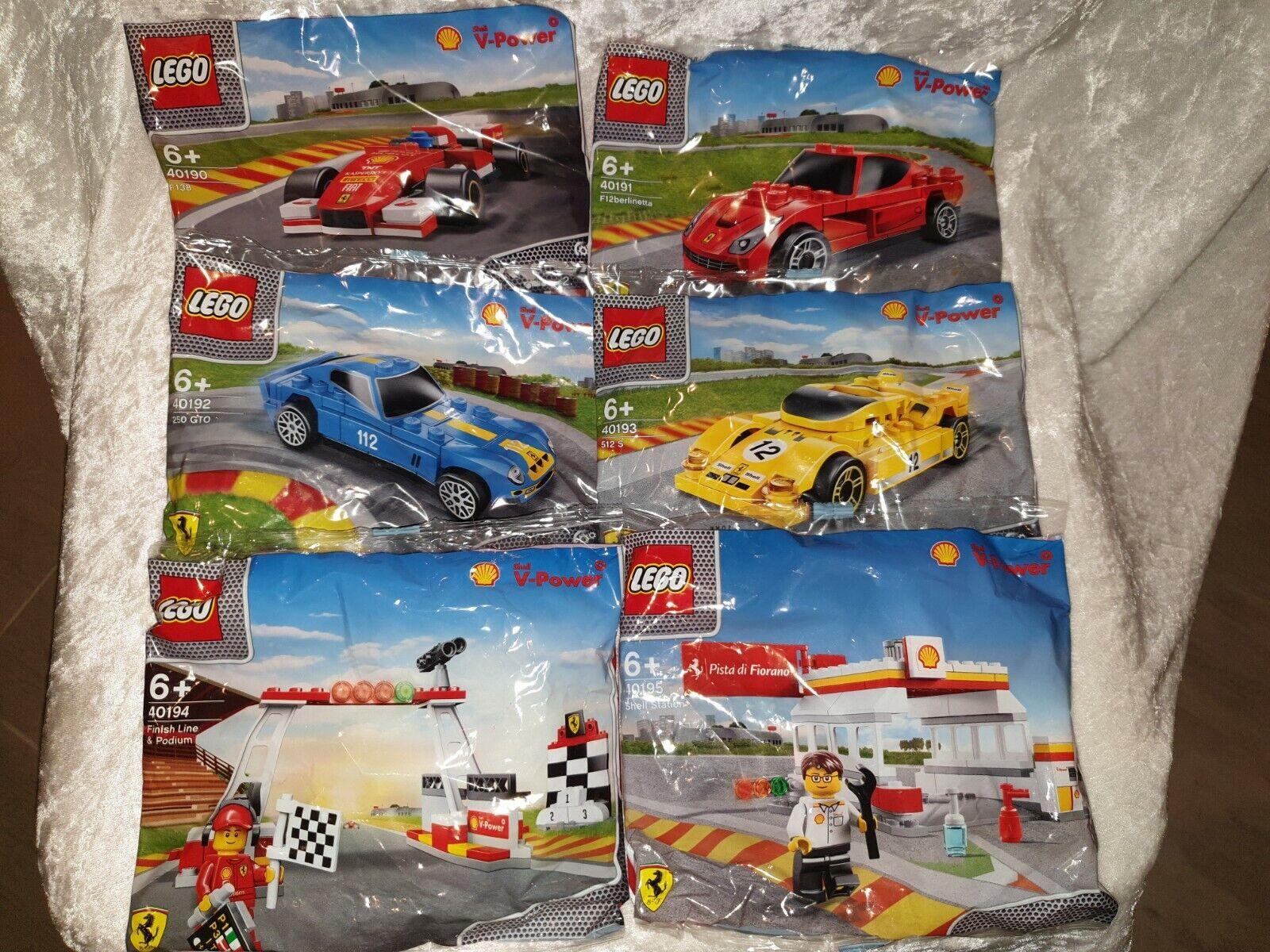 LEGO Sets komplett 40190 - 40195 Auto Polybag  FERRARI SHELL V-Power NEU