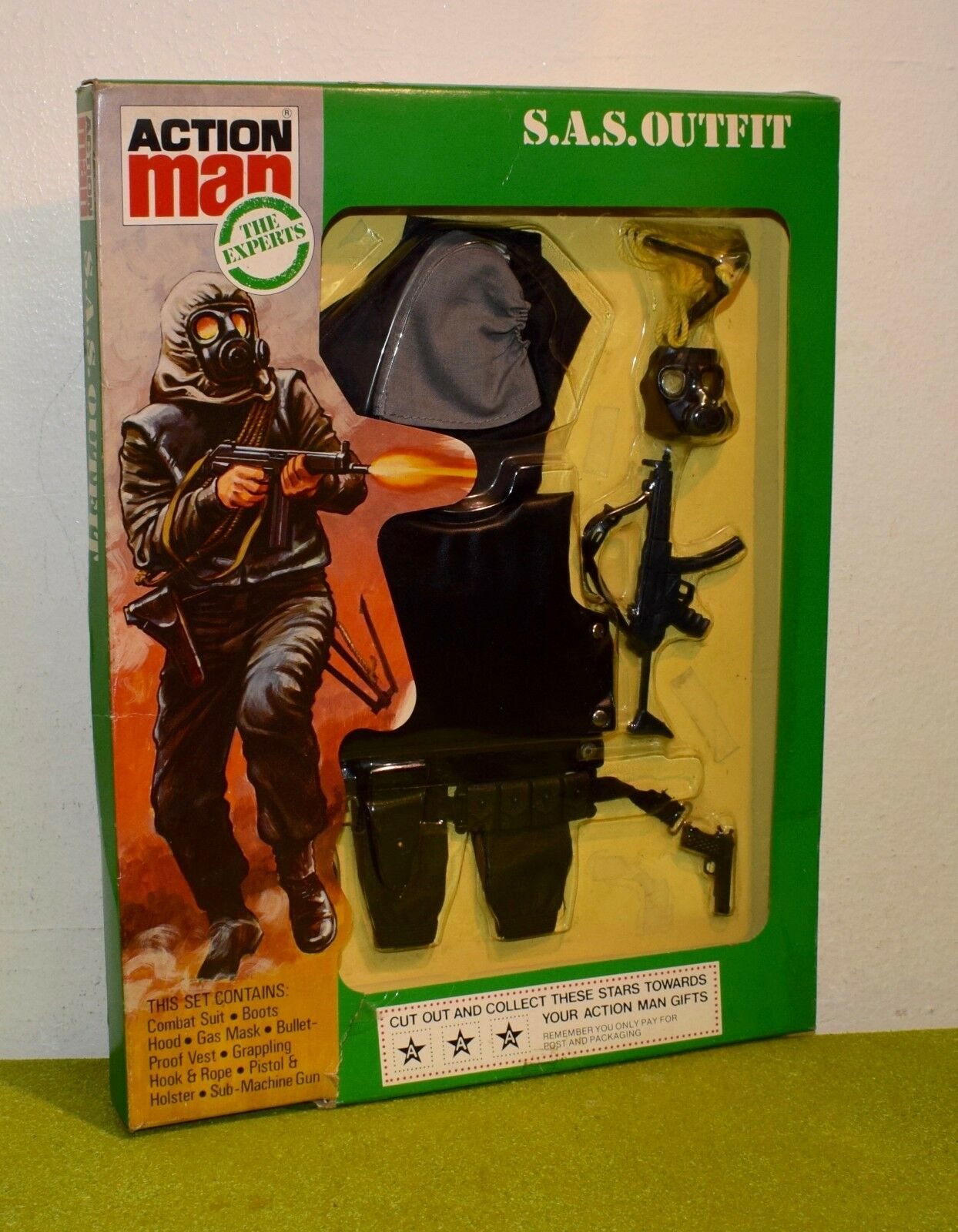 ORIGINAL VINTAGE ACTION MAN CARDED THE EXPERTS SAS OUTFIT