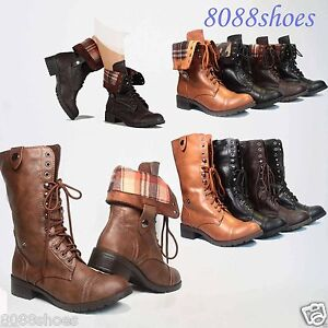 Genuine Leather Women's Round Toe Low Heel Casual Front Zipper Handmade Cool Mid Calf Boots