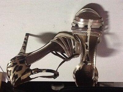 Zapatos tacon adorno leopardo n37