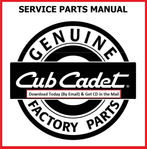 Cub Cadet Lawn Mower 1440 Tractor Service PARTS Manual with Part Numbers