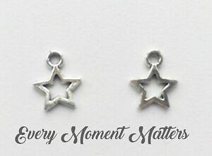 Tibetan Style Hollow Star  Charm Pendants Silver Jewelry Pendant 25 pcs