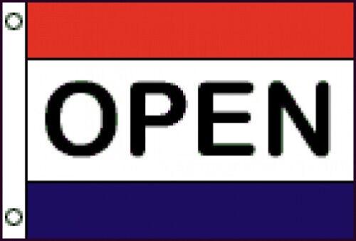 3x5 FT  OPEN MESSAGE FLAG OPEN FLAG SEWN STRIPES NYLON CUSTOM COLORS AVAILABLE