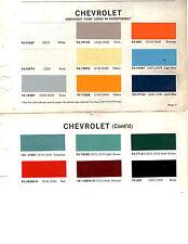 1965 CHEVROLET TRUCKS VAN PICKUP 65 PAINT CHIPS DUPONT 6