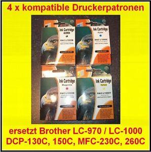 Lot-de-4-CARTOUCHES-pour-Brother-MFC-665CN-680CN-685CW-845CW-885CW-3360C-5460CN