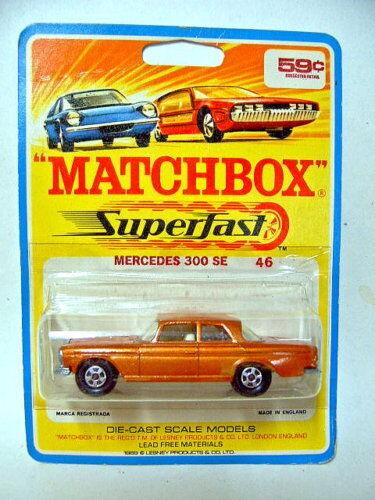 MATCHBOX SF Nº 46 A MERCEDES 300 ormet. RARE 1969 étui.