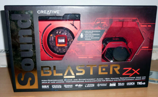 Creative Sound Blaster ZX 116dB PCIe Gaming Sound Card with Amp - SB1506