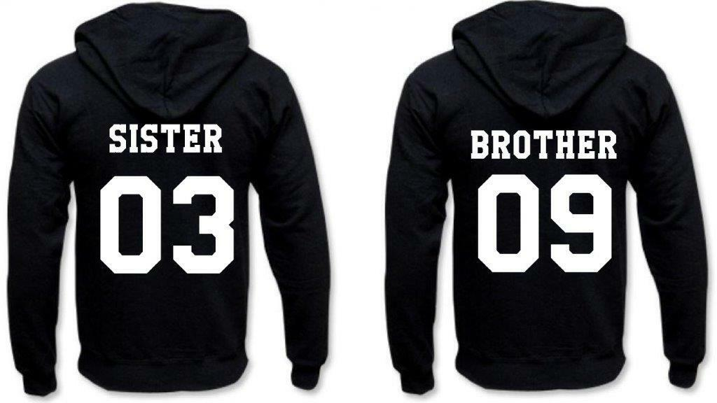 Partner Hoodies --- SISTER & BROTHER