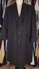 DANIEL Hechter COAT Gray 44R Cashmere BLEND Charcoal WINTER Lined VENTED Wool SZ
