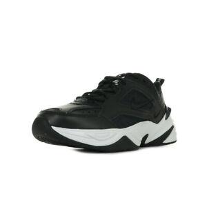 c97e7aa47f11e0 Chaussures Baskets Nike homme M2K Tekno taille Noir Noire Cuir ...