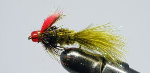 6QTY FLASHING WILLIE FLY Fishing Flies size 12 /& 14