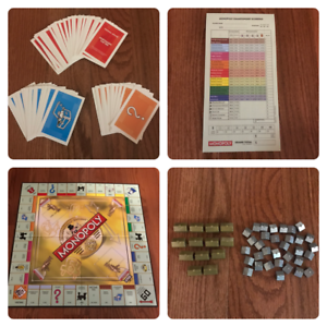 Monopoly-Championship-Edition-Replacement-Parts-YOU-CHOOSE-Cards-Houses-Board
