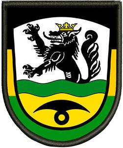Premium  Aufnäher Wappen von Bergheim  Patch Aufnäher Pin
