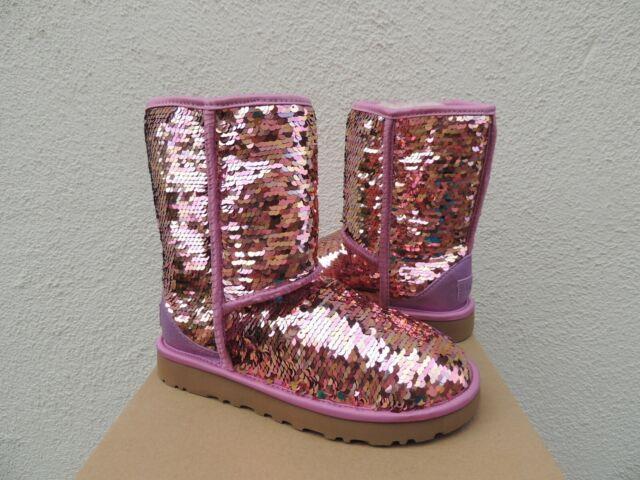 UGG Classic Short Pink Sparkle Sequin