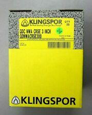 Klingspor Qdc Nwa Crse 300 3 Non Woven Sanding Discs Lot Of 25 Discs New