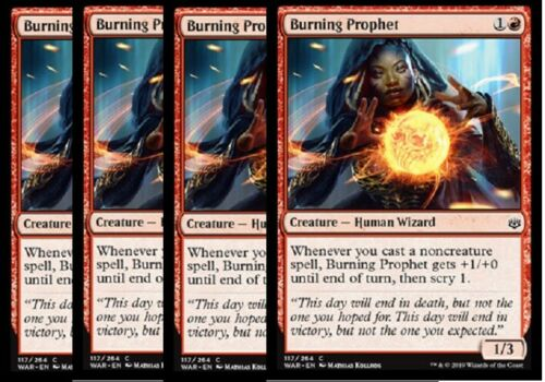 NM SHIPS 5//3-4x Burning Prophet War of the Spark Red Common