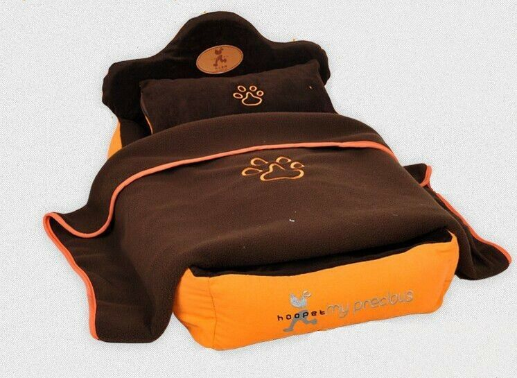 New orange Pumpkin Pet Dog Cat Bed House All Cover take easy wash+pillow blanket