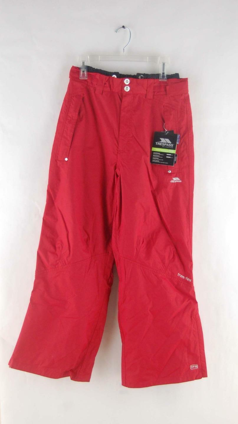Trespass Download Mens Zipper Vented Snowboarding and Ski Pants Red