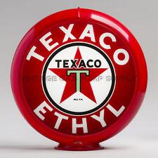 """Texaco Ethyl 13.5"""" Gas Pump Globe w/ Red Plastic Body (G194)"""
