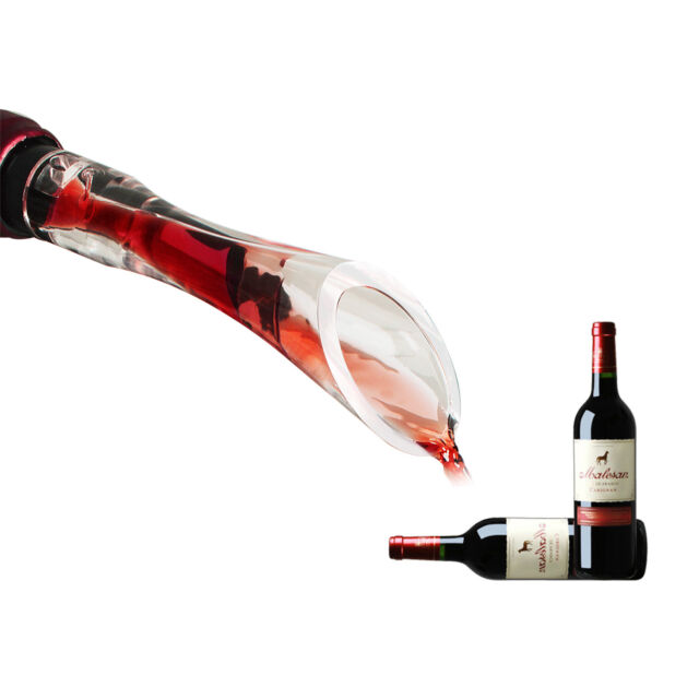 Wine Hand-held Aerator Pourer and Decanter Spout Mini Wine Aerator Accessories Fits Any Standard Bottle