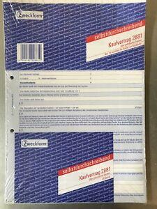 Avery Zweckform Kaufvertrag Allgemein 2881 Vordruck Sd