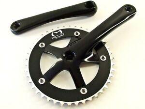 Fixed gear Single Speed Track Cranks Crankset 165mm 46t Black