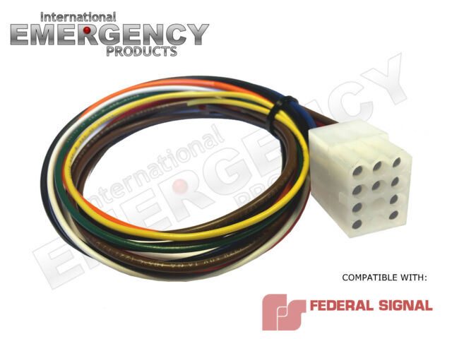 12 pin connector plug harness power cable for federal signal siren pa-300  ss2000