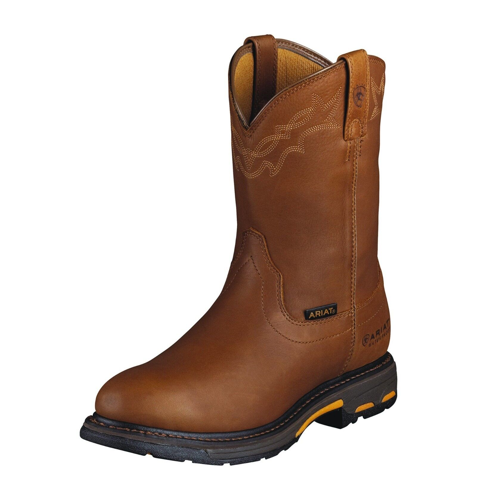 New Men's Ariat 10001197 WorkHog Waterproof  Pull On leather Boot