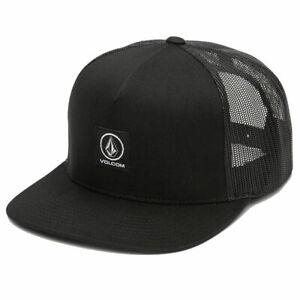 Volcom-Herren-Box-Stein-Kaese-Snapback-Muetze-Schwarz-Headwear-Basecap-sunvis