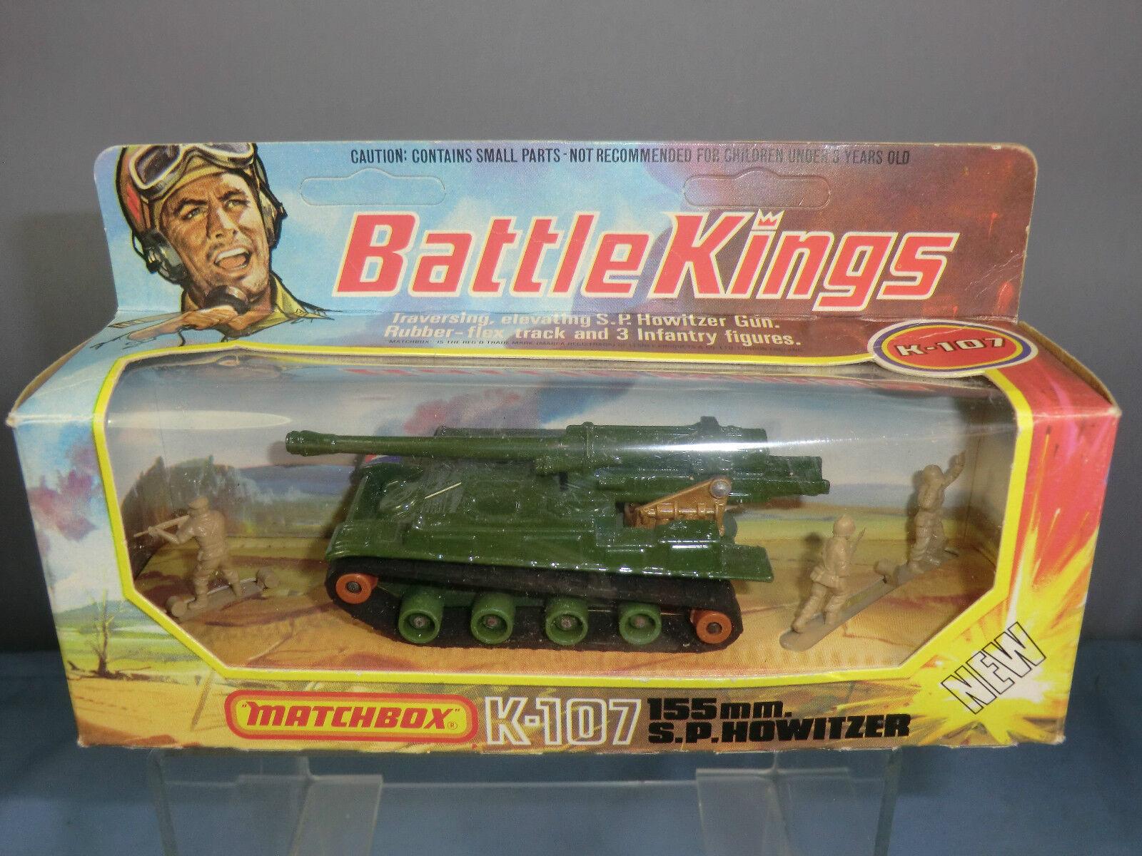 Matchbox Battle Kings modèle No.K-107  155mm  S.P. Howitzer VN En parfait état, dans sa boîte