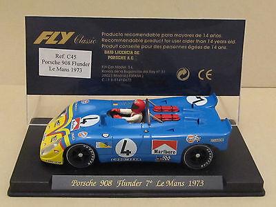 Rare FLY C45 MARLBORO PORSCHE 908 Flunder 7° Le Mans 1973 #4 Gulf 1:32 Slot Car