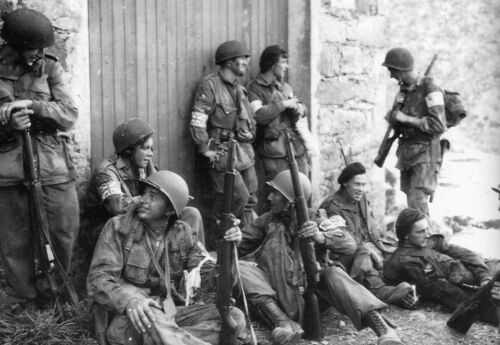 Paras américains et britanniques de la 1st Airborne Task Force WW2