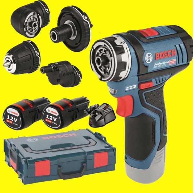 Bosch Tournevis à Batterie GSR 12V-15 FC Flexi Clic avec 4 Essais 2x2,0