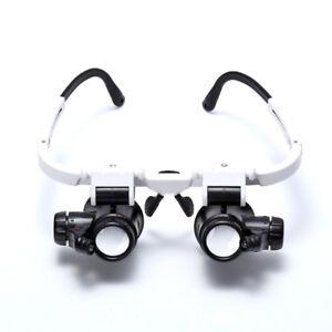 8x-15x-23x-Doppel-Augenlupenkopf-Verschleiss-Reparatur-Juwelier-Uhr-Vergroess-OE