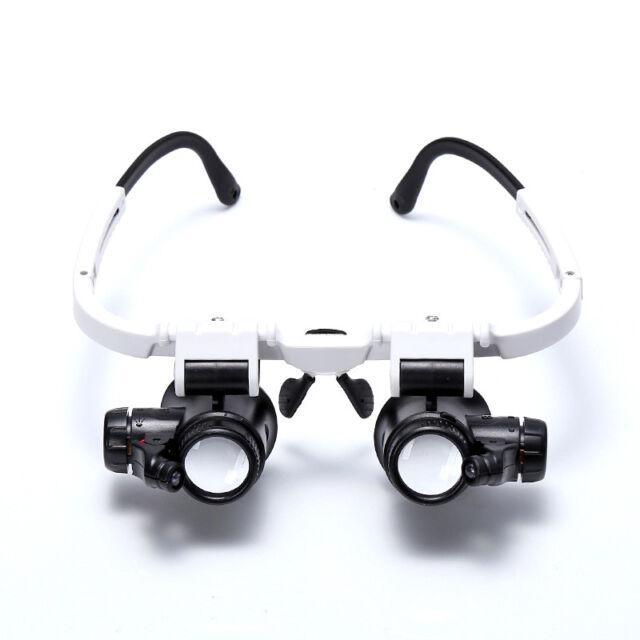 8x 15x 23x Doppel Augenlupenkopf Verschleiss Reparatur Juwelier Uhr Vergroess OE